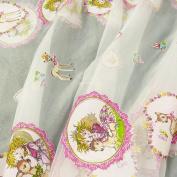 Rasch Pink Burnout Die Spiegelburg Prinzessin Lillifee 47110 Postcard Prinzessin Lillifee with White Organza Curtain Fabric 300 cm