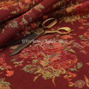 Full Floral Pattern Chenille In Red Green Colour Quality Furnishing Fabric