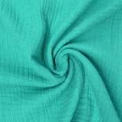 Dress Fabric Double Gauze Muslin Nappy Plain Turquoise)