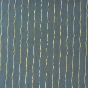 Brigitte Von Boch Harbour Linen Decorative Upholstery Fabric with String Blue Stripes 140 cm