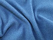 Marl Micro Fleece Fabric Airforce Blue - per metre