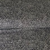 SPOTTY JERSEY FABRIC - Black White Spotty - Jersey Viscose Fabric - SWAVIJ01 - By 0.5 Metre - By Swafing