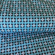SCANDI FLORAL JERSEY FABRIC - Scandi Floral Blue - Jersey Fabric - SWAJ55 - By 0.5 Metre - By Swafing