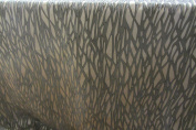 "Metalix Craft Faux Silk Fibre Naturelle Beige & Black 140cm/54"" Designer Material Sewing Upholstery Curtain Craft Fabric"