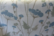 "Meadow Duckegg Printed in Uk Cotton 140cm/54"" Designer Material Sewing Upholstery Curtain Craft Fabric"