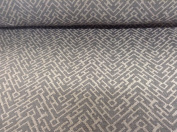 """Maze Aztec Beige/Grey Linen Weave 140cm/54"""" Designer Material Sewing Upholstery Curtain Craft Fabric"""