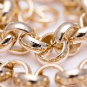 Luxury Belcher Chain Necklace - 24 k Gold plated - Men's - 16mm, Heavy, Bling