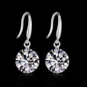 925 Sterling Silver Crystal Rhinestone Earrings