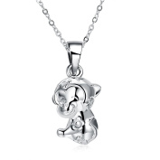 Yozone Pendants, Fashion Monkey Necklaces Animal Silver Plated Chain with Copper for Women Men Gift
