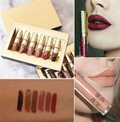 Matte Lip Gloss, ADESHOP 6PCS Waterproof Lip Gloss Matte Long Lasting Liquid Lipstick