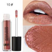 TIREOW UBUB Metal Pearl Lipstick Long Lasting Waterproof ColorStay Non Stick Lipstick 12 Colours