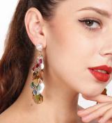 Jovono Earrings Dangle Earring Eardrop with Sequins for Women and Girls