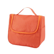 sourcingmap® Multifunction Outdoors Travel Cosmetic Bag Makeup Pouch Toiletry Case Orange