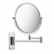 10x Magnification 20cm Double-Sided Swivel Wall Mount Makeup Mirror, Extension, Polished Chrome Finished