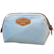 hearsbeauty Portable Travel Nylon Makeup Cosmetic Bag Toiletry Case Storage Holder Pouch - Light Blue