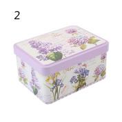 Kicode Graffiti Retro Tinplate Jewellery Tea Candy Gift Box Storage Jars With Lid Tea Coffee Candy