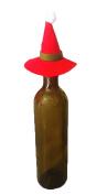 COMVIP 5pcs Santa Hat For Wine Christmas Party Decoration Topper 10*10cm #A
