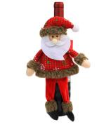 COMVIP Christmas Decoration Flannel Wine Bottle Cover Doll Prop Santa