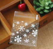 ZHJZ Transparent Snowflake Package Wedding Birthday Christmas Party Gift Bag