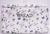 Secret Garden Bread Bin White Ceramic Flowers Butterflies & Bees Bread Crock Hand Decorated in the UK