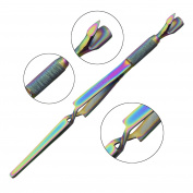 Nail Pincher Tool Multi Function Cuticle Pusher Tweezer Magic Wand Multi Colour