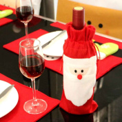Omkuwl Santa Claus Christmas Red Wine Bottle Cover Bags Christmas Dinner Decoration