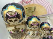 F.Dorla Beautiful Wooden Russian Nesting Doll Toy Russian Doll Wishing Dolls Handmade Gift Ideal 10pcs