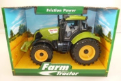 ToylandⓇ 22cm x 12cm Friction Powered GREEN Farm Tractor With Opening Bonnet