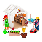 Goki 51819 Dolls House Greenhouse with Accessories