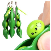 Extrusion Bean Toy , Hunpta Fun Beans Squeeze Toys Pendants Anti Stressball Squeeze Funny Gadgets