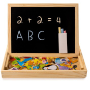 Home Treats Educational Learning Toy. Magnetic White Board and Black Board