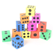 Albeey 12/pcs EVA Foam Dice Education Puzzle Toy for Children Early Life