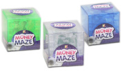 Money Puzzle Cube - Complete the ball bearing maze to open (colour varys)