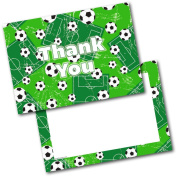 *NEW* Pack of 20 Thank You Thankyou Kids Football Postcards Cards with Envelopes
