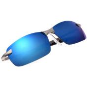 QHGstore Mens Polarised Sports Driving Sunglasses Mirrored Sun Glasses Eyewear