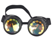 ZAIQUN Vintage Steampunk Goggles Multicolor Lens Copper Brass Welding Glasses