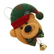 HUHU833, Christmas Ornament Hanging Pendant Embellishment Bell Decoration