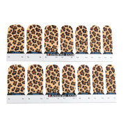 sourcingmap® 1 Set Leopard Pattern Nail Beauty Patch Stickers Nails Art Tips Adhesive Decor
