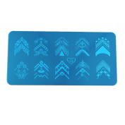 sourcingmap® Stainless Steel Rectangle Nail Stamping Plate Image Stamp Template Nails Beauty