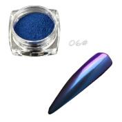NXDWJ Sexy Chameleon Nail Mirror Powder Glitter Chrome Powder Bright Powder Shine Pigment Fluorescent Powder