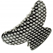 Large Hair Styling Hairstyling Crab Claw Jaw Clip Hairdos Grip Updos Barrette In Black and White Grids Pattern