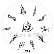 Nail Art Stencil T N – Tribal Tattoos etc
