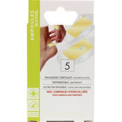 HYDROCOLLOID dressings for BLISTERS on the feet or hands, Waterproof and Ultra-thin x 5