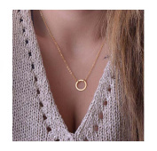 Chicer Choker Necklace with Golden Circle for Women and Girls