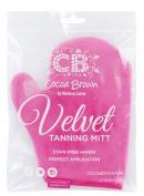 Cocoa Brown Velvet Tanning Mitt