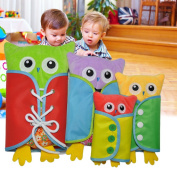 Samber Baby Learn to Dress Board Basic Skill Learning Board Toddler Dressing Enlightment Early Education Aids Baby Puzzle Toys Children Early Teaching Props