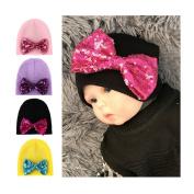 BrilliantDay 4 PCS Turban Winter Warm Cap Hat Children's Lovely Soft Hat#3