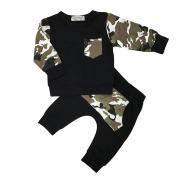 Bluelans Fashion Baby Boys Camouflage Long Sleeve T-shirt Sweatshirt + Pants Outfits