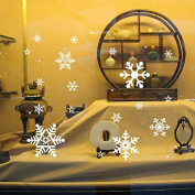 Removable wall sticker Christmas snowflake lights living quarters, nursery shop-window glass wall posters, Christmas Snow,