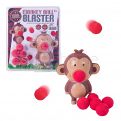 Monkey Ball Blaster - Air Powered - Just Load, Squeeze and Launch - Safe Indoor and Outdoor Play - Includes Carry Bag - Ideal for Travel and Safe Storage - Ages 3+